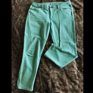 Banana Republic Mint Ankle Zip Skinny Jean Legging